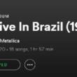 Metallica lança álbum digital com faixas gravadas no Brasil.