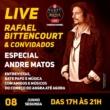 Rafael Bittencourt: guitarrista faz hoje live em homenagem à Andre Matos com vários convidados
