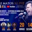 Andre Matos: ALive ocorre nesta segunda-feira, 14 de setembro, às 20h
